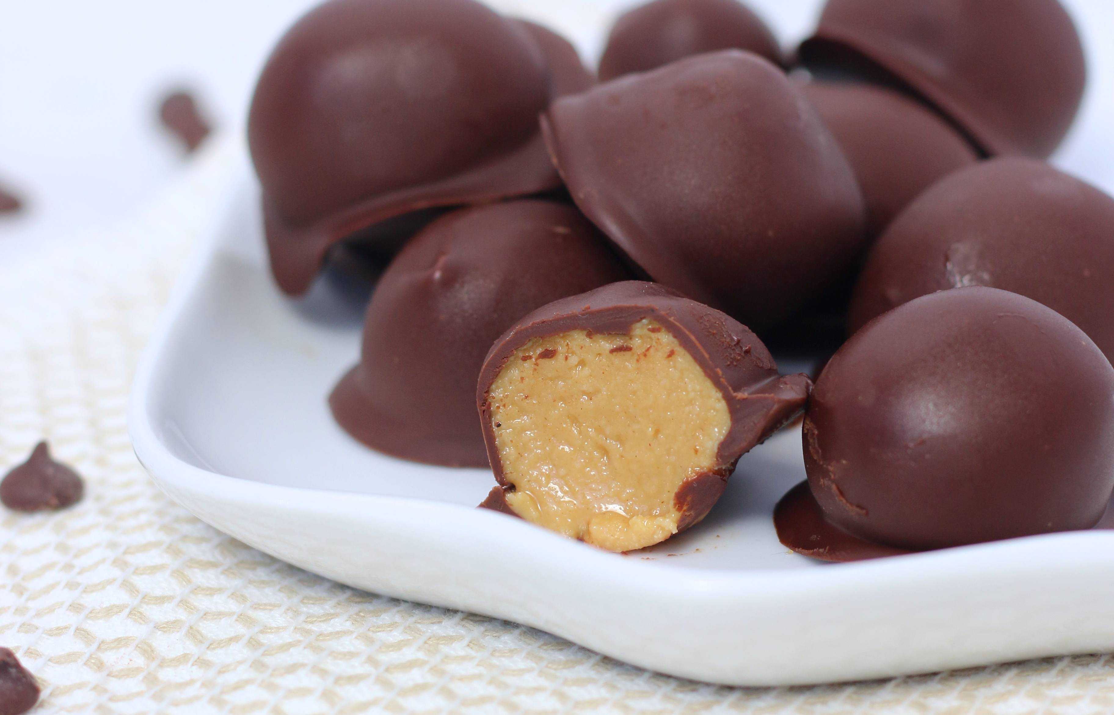 Recipe for keto peanut butter bites are similar to peanut butter cups and will satisfy any sweet tooth.