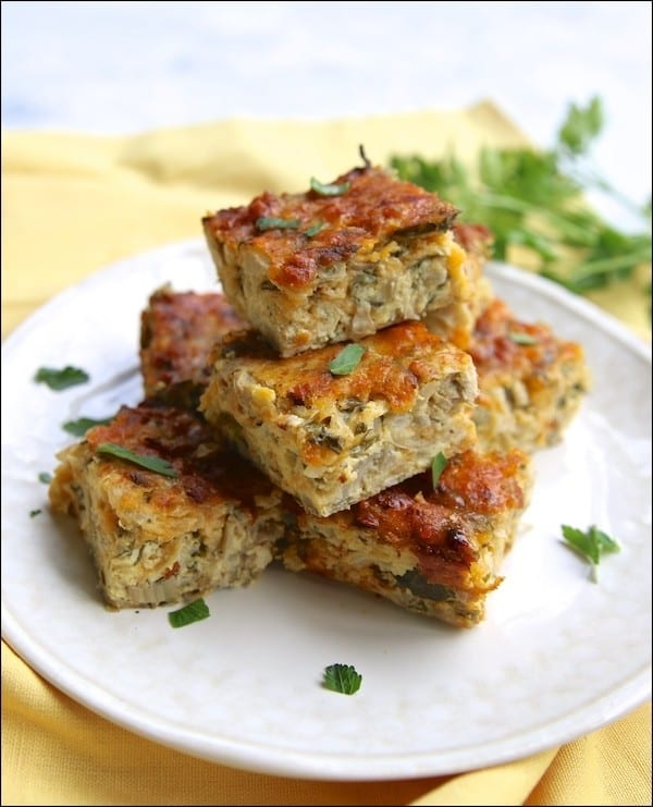 This flavorful Spinach Artichoke Frittata is a perfect make ahead recipe.