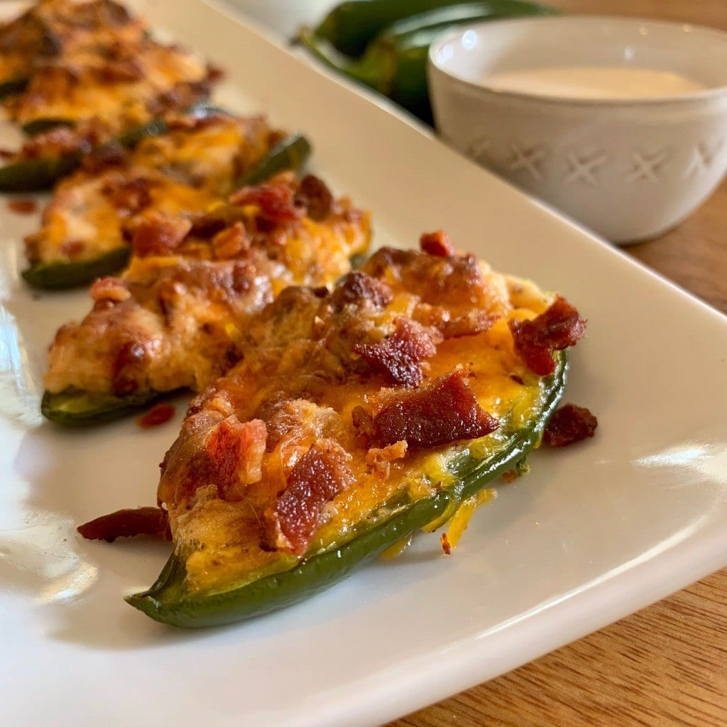 Simple recipe for delicious Keto Jalapeño Poppers.