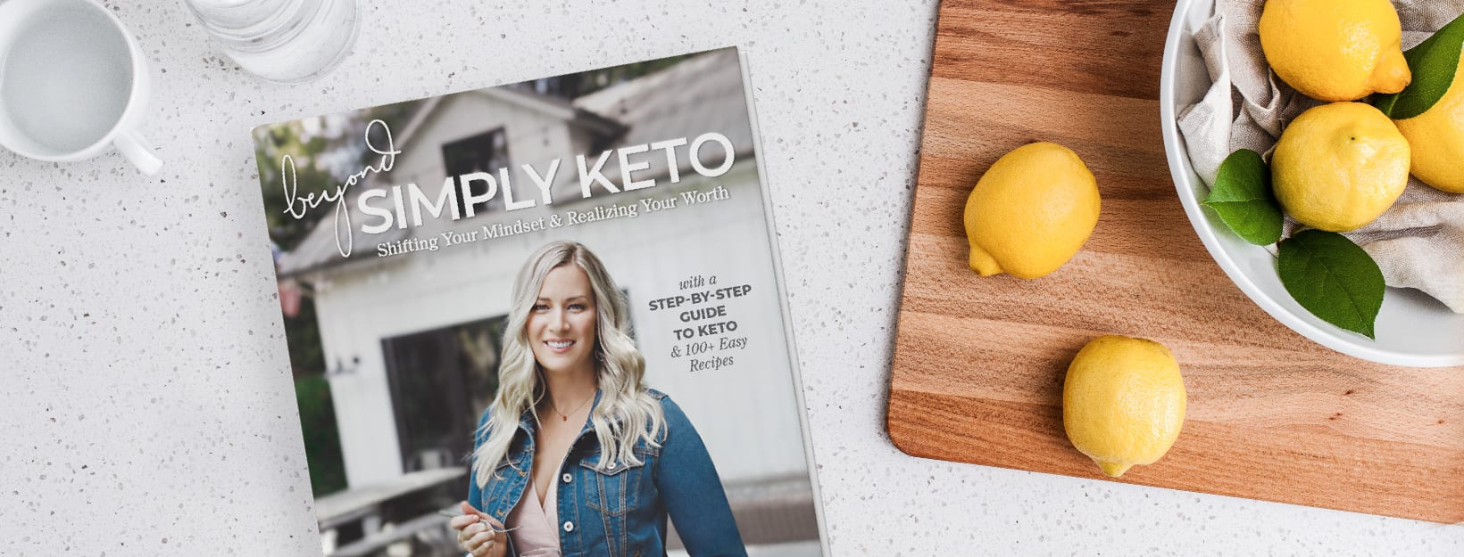 Cover of Beyond Simply Keto cookbook written by Suzanne Ryan.