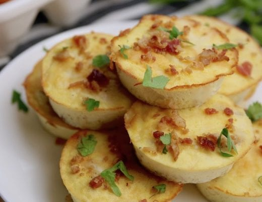 Recipe for keto friendly Bacon Gruyere egg bites.