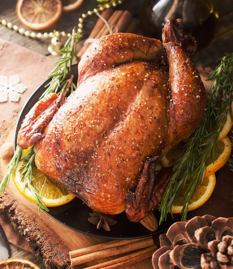 A simple and delicious recipe for a moist and flavorful keto friendly turkey!