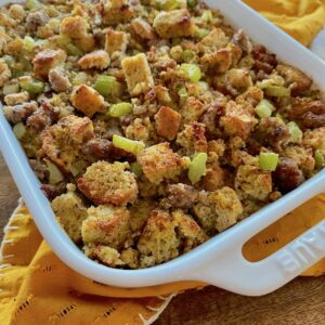 This flavorful and delicious keto sausage stuffing recipe will definitely hit the spot this holiday season.