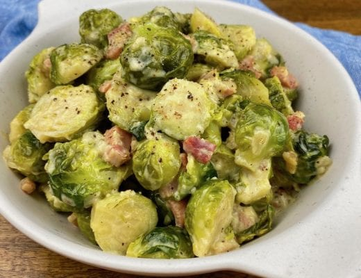 These Creamed Brussels Sprouts are a great recipe to make as a side for a special holiday meal, or as an everyday side during the week.