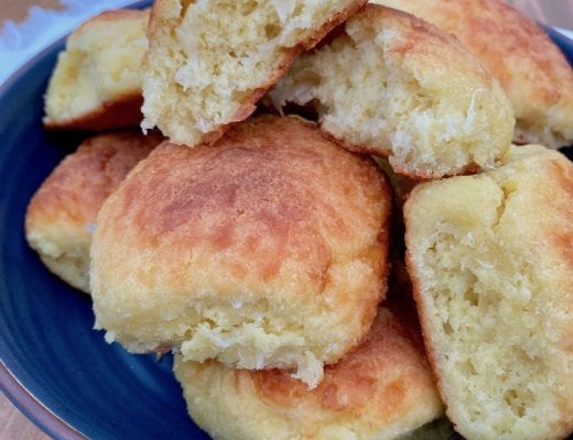 This keto dinner rolls recipe is makes soft and fluffy pull-apart rolls that are slightly sweet.
