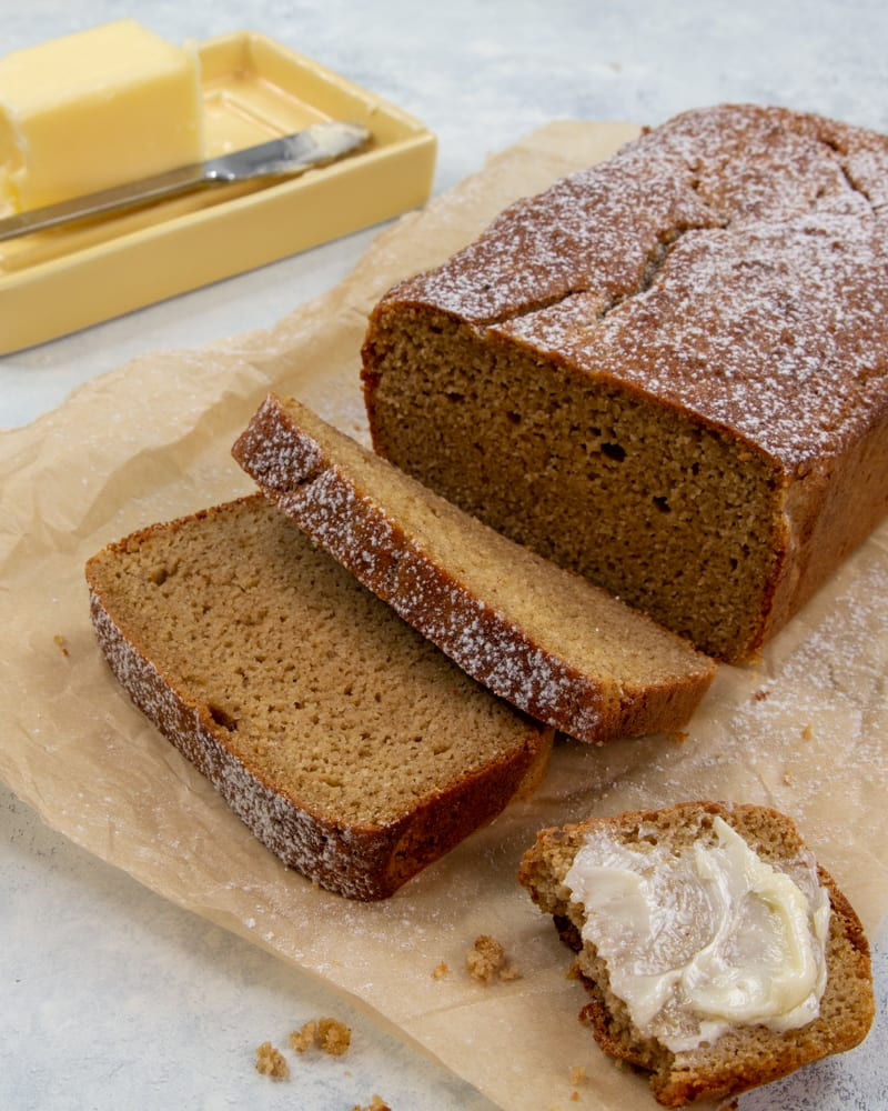 This keto gingerbread loaf recipe is a spicy, sweet treat that can be enjoyed year round.