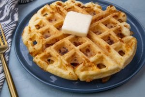 Recipes for three delicious and savory chaffle recipes...and you can make them in as little as 10 minutes!