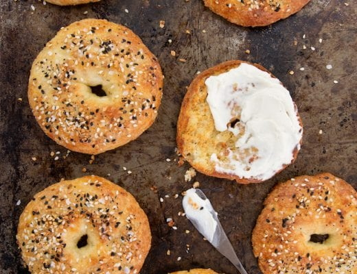 You're going to love this recipe for chewy, flavor packed keto everything bagels.