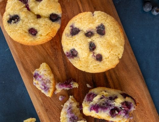 This recipe for keto-friendly blueberry muffins are delish, and perfect for a quick and easy breakfast!