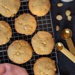 Keto white chocolate macadamia nut cookies recipe.
