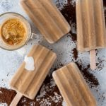 Simple recipe for creamy iced coffee popsicles.