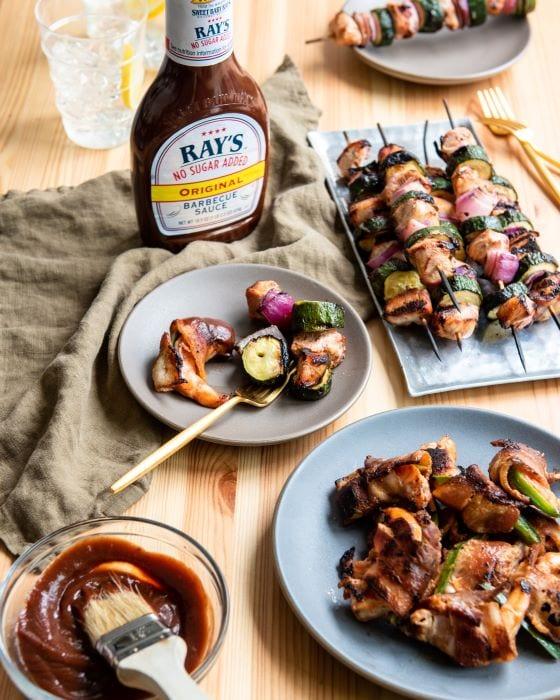 Two keto-friendly recipes using sugar free BBQ sauce.