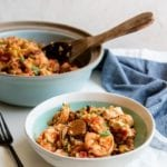 Recipe for Keto Jambalaya made in Instant Pot or on the stove.