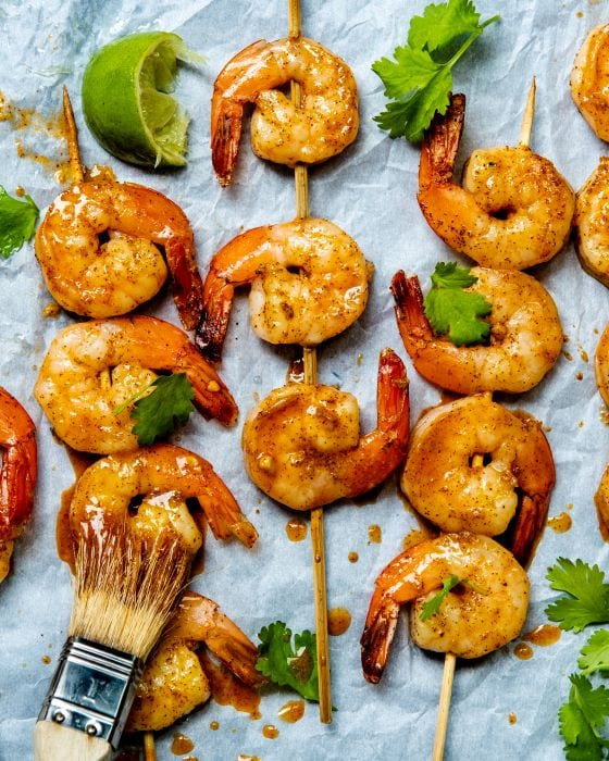 Recipe for tequila lime shrimp.