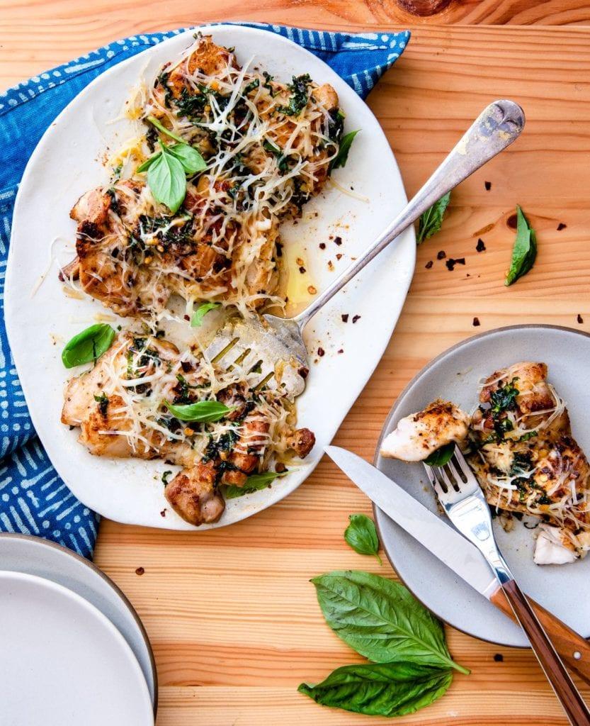 Recipe for 30 minute garlic parmesan chicken.