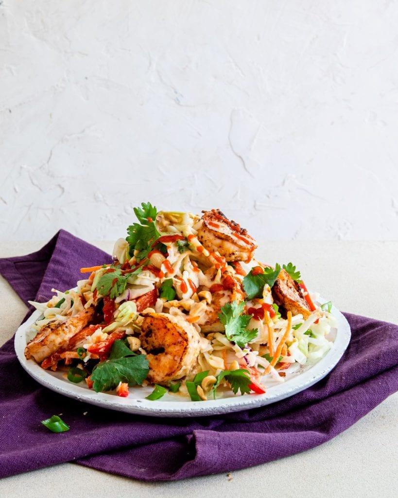 Recipe for simple Thai shrimp salad.