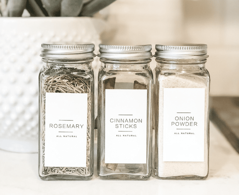 Simple, inexpensive DIY spice drawer organization project details.