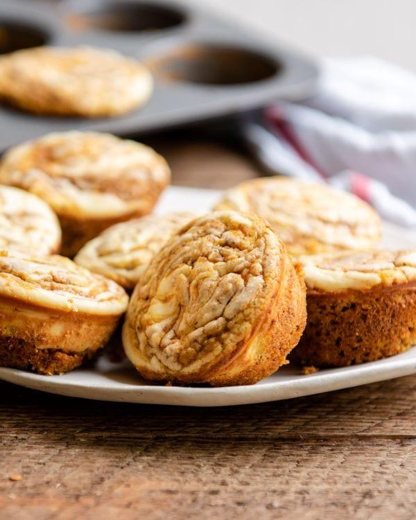 Simple recipe for pumpkin cream cheese muffins.
