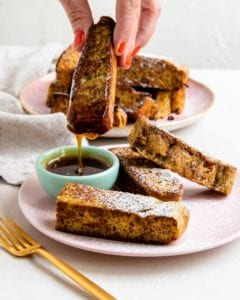 Recipe for keto french toast.