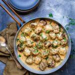 Keto friendly swedish meatballs recipe.
