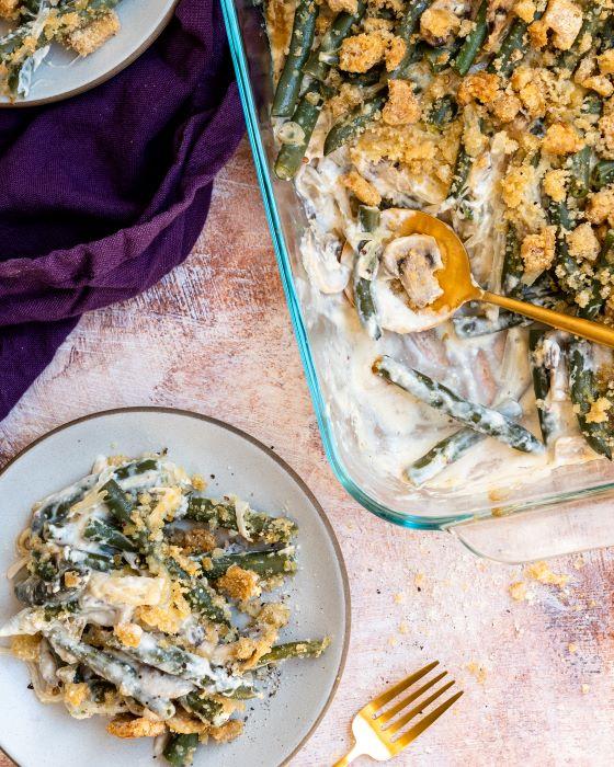 Keto green bean casserole recipe.